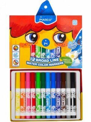 Фломастери 12 кольорів Super Washable Jumbo