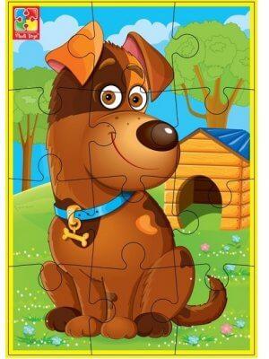 Мягкие пазлы А5 «Любимцы» Собака