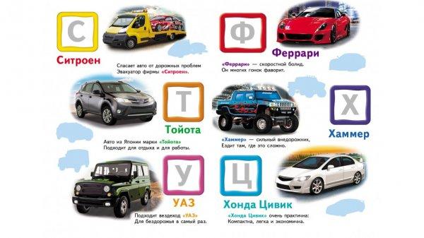 Автомобильная азбука. Большие наклейки буквмммм