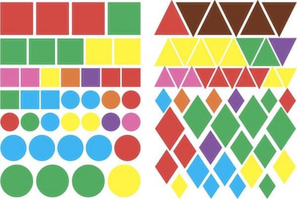 Геометричні наліпки - Знайди за формою
