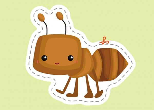Вирізалки для найменших. Різнобарвні комахи.