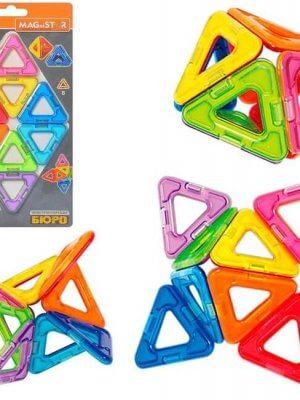 Магнитный конструктор. Треугольники