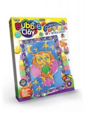 Сова. Bubble Clay. Витражная картина