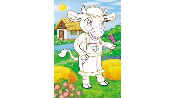 Аплікації для малят. Корова