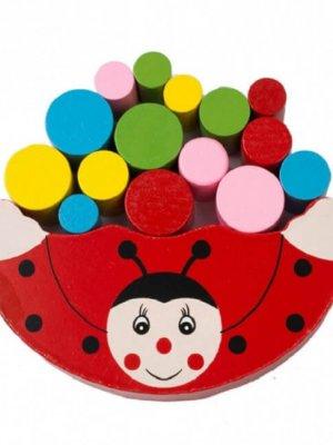Дерев'яна іграшка Балансир (червоний)