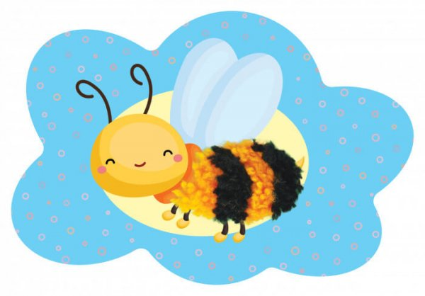 Мої пухнастики. Бджілка