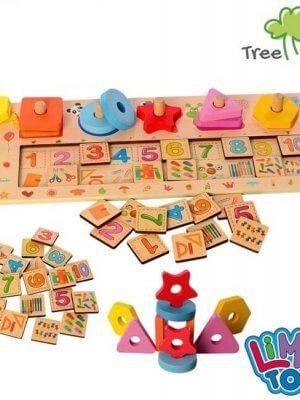 Деревянная игрушка для обучения счету