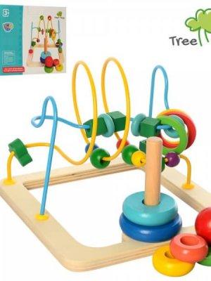 Іграшка дерев'яна Лабіринт A03241 пірамідка (5 кілець)