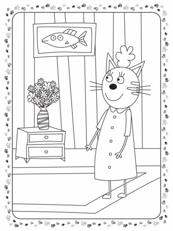 Кольоровий штрих. Три коти. Гра у лікаря