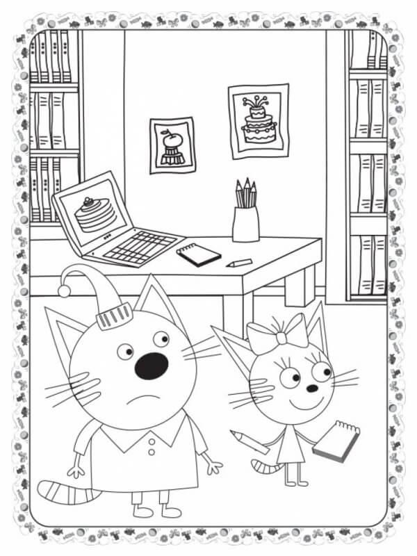 Кольоровий штрих. Три коти. Кіношедевр