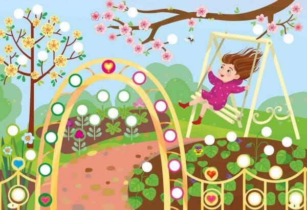 Наліпки-прикрашалки — Квіточки й сердечка