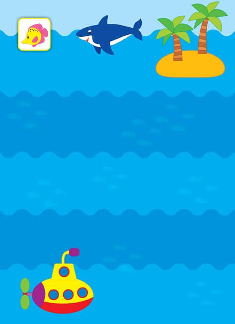 Хлюп-хлюп! У морі. Перші наліпки